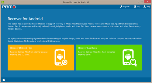 How to Recover Deleted File Galaxy S2? - Main Window